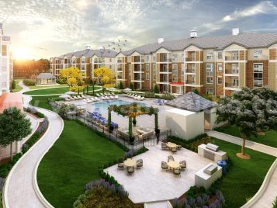 Modern Courtyard Pool View Landscape Design Services by Yantram Landscape designer, Odessa - Texas
