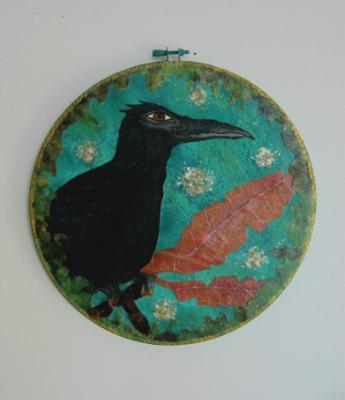 Perching Crow