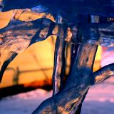 Ice by sunset