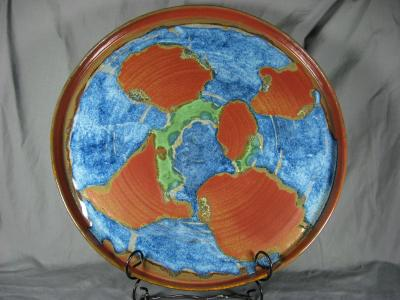 "101204.A Large ""World"" Platter"