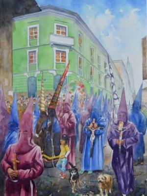 Parade of holy friday, 50cm x 70cm, 2016