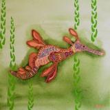 Weedy Sea Dragon Green 30x30cm