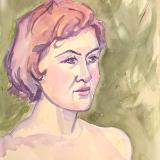 Sosha Watercolor Portrait