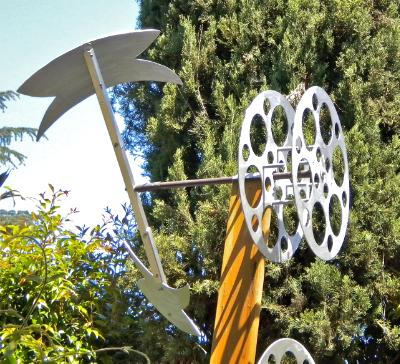 The Axe, garden kinetic sculpture