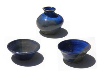 Blue Bowls and Vase