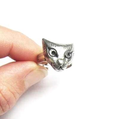 Cat ring adjustable pewter cat ring from an original design