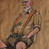 Virgil, Seated, with Suspenders