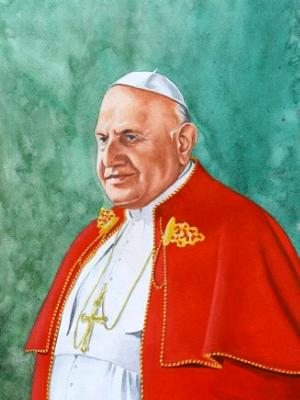 Portrait of Pope JOHN XXIII, 80cm x 60cm, 2014