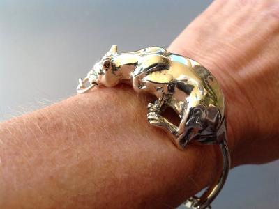 Cougar Bracelet  Sterling Silver, Custom Order