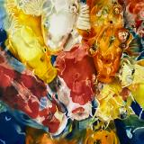 Paintings - Watercolor, Silk and Acrylic