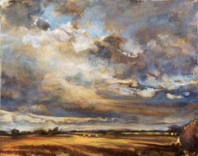 CLOUDSCAPE 16X24 OIL ON CANVAS sold