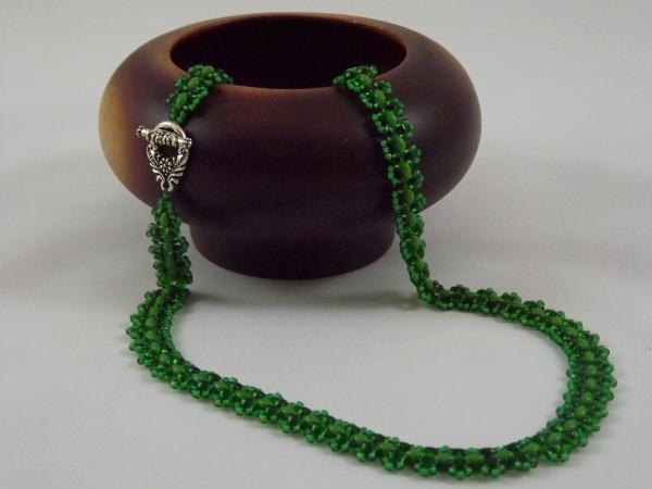N-54 Emerald Green Woven Necklace