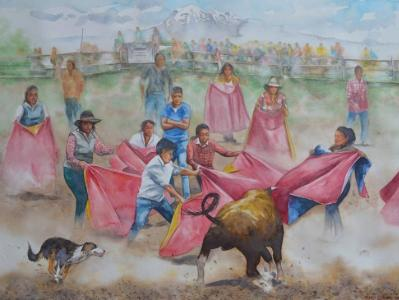 Ecuadorian bullfighting, 76cm x 56cm, 2016
