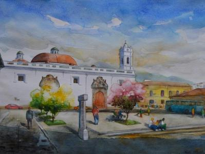 Santa Clara square, 35cm x 50cm, 2016