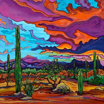 Desert Color Burst - 24x24 Original Acrylic on Gallery Wrap Canvas SOLD