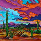 Desert Color Burst - 24x24 Original Acrylic on Gallery Wrap Canvas SOLD