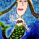 """""""Mermaid Greetings"""" by Lauren Sancia Wells"""