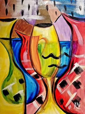 Colored Glass Still life