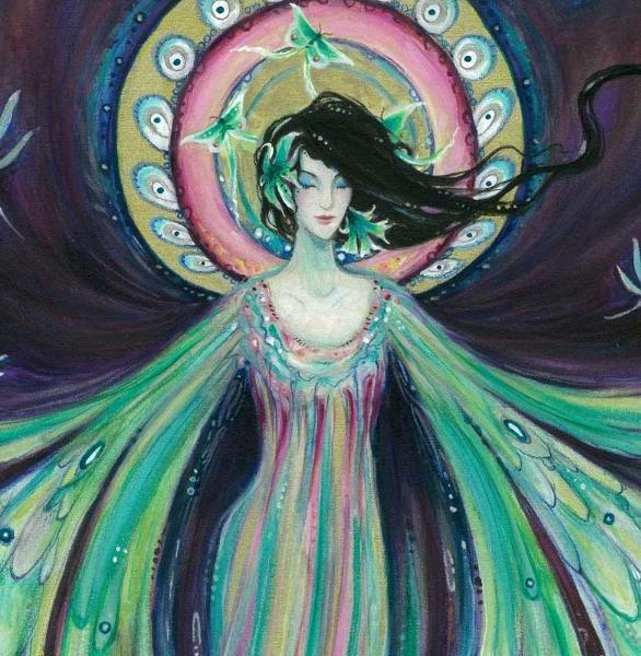 Luna Moth fairy angel art print