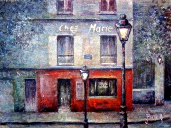 View from the stairs in Montmartre - SOLD