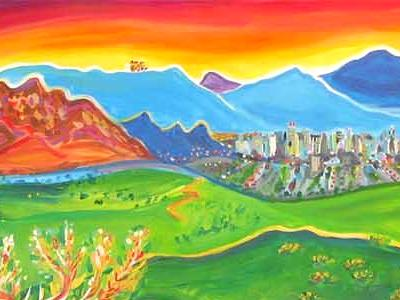 "Rachel Houseman - ""I Love to Paint with Rainbows"""