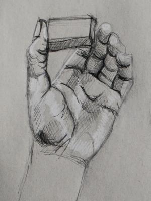 Hand Study (Holding Eraser)