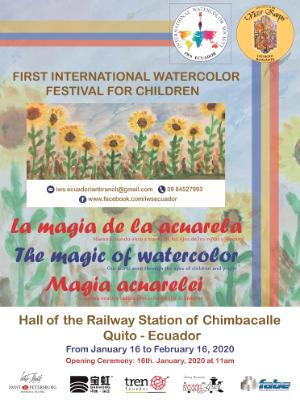 International Watercolor Exhibition for Children THE MAGIC OF WATERCOLOR, Quito, 18.01.2020 - 16.02.2020