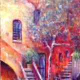 Roman Courtyard Stairs
