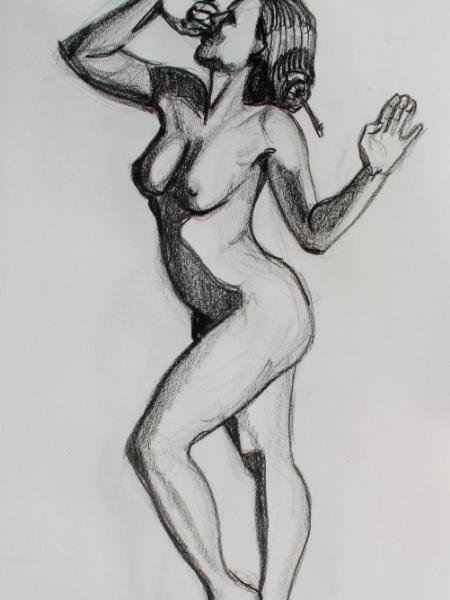 Standing Female Nude, Side View