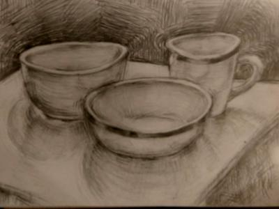 Cup and Bowl  Still life