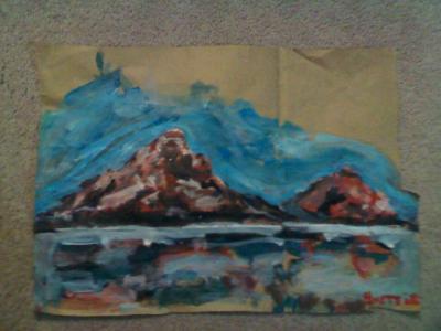 Mountains on Kroger sack