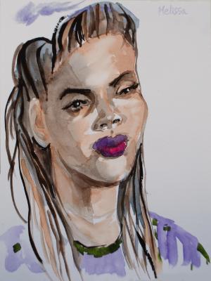 Melissa, Frontal Portrait