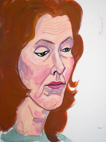 Margaret, Gouache Portrait