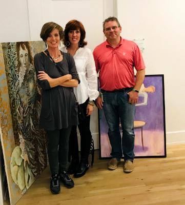 With Tom and Cheryl at Gallery 211
