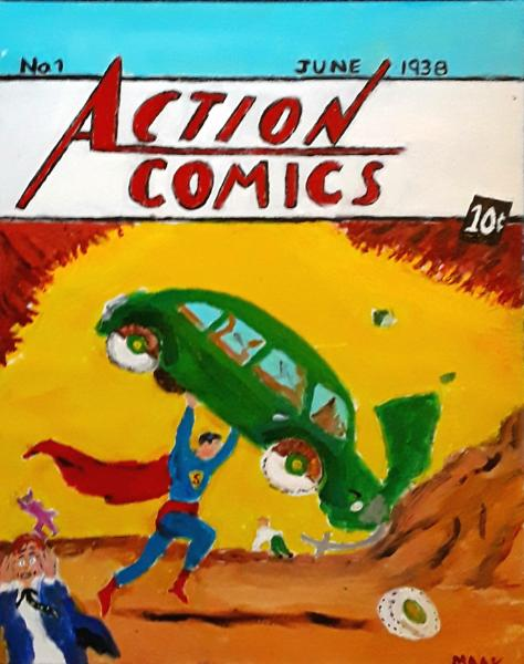 First Superman Comic Cover 1938