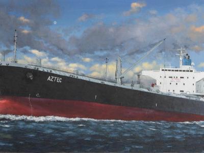 "Ecuadorian oil carrier ""Astec"", 120cm x 60cm, 2013"