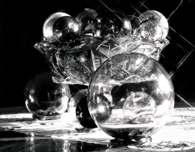 Sparkling Antique Bowl & Glass Floats
