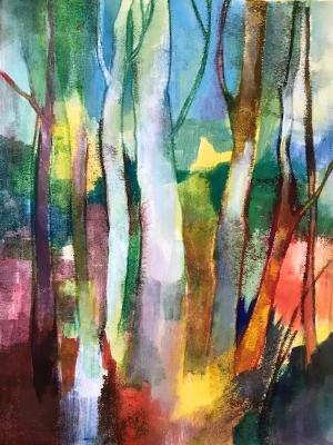 Birches abstract #1