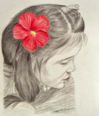 Girl With Hibiscus
