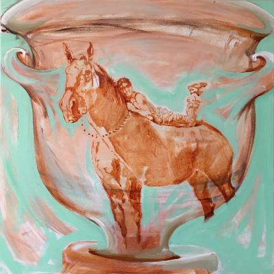 in the sun on the vase
