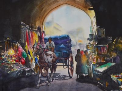 One day in Lahore-Pakistan, 56cm x 38cm, 2017