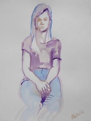 Natalia, Seated