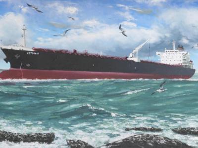 """Ecuadorian oil carrier """"Cotopaxi"""", 120cm x 60cm, 2013"""