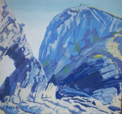 At Blackchurch Rock, North Devon