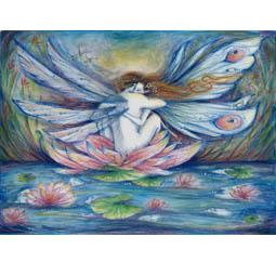 """""""The Lillypond"""" fairy lovers note card"""