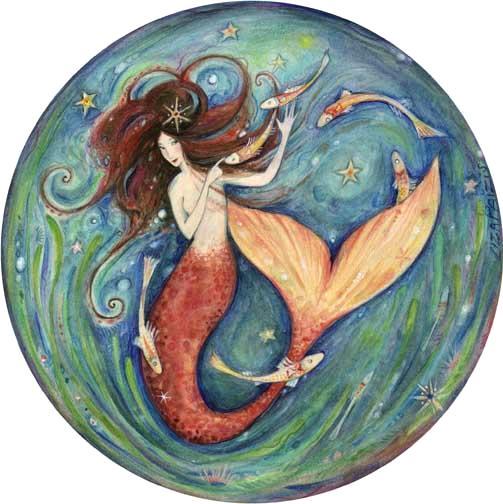 Little Mermaid art print from the original painting