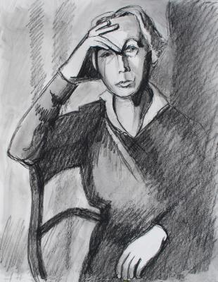 Portrait of Kathe Kollwitz (from photo)