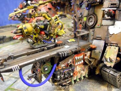 Ork Gun Stompa with obserever