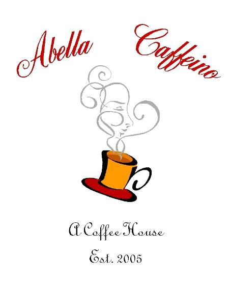 Abella Caffeino Coffee Shop Logo