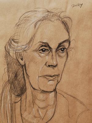 Sheley, Three-Quarter Portrait